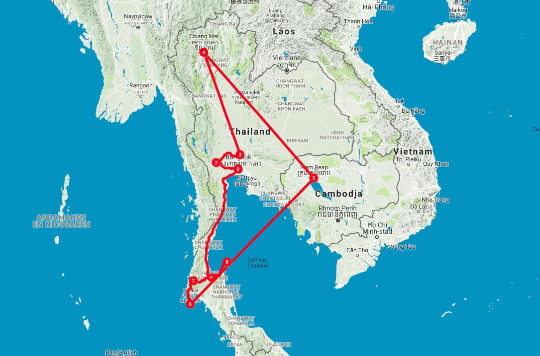 Route Thailand 2017